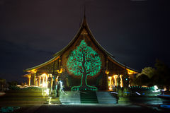 Wat Sirindhorn Wararam Phu Prao tempel i nordost av Thailand Arkivfoton