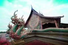 Wat Sirindhorn Wararam Phu Prao temple in Northeast of Thailand. Royalty Free Stock Photo