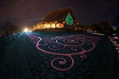 Wat Sirindhorn Wararam Phu Prao temple in Northeast of Thailand. Stock Image