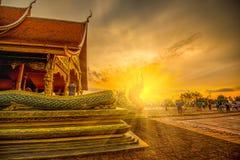 Wat Sirindhornwararam härlig buddistisk tempel för turism in Arkivbilder