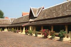 Courtyard of ancient Wat Sisaket temple in Vientiane, Laos