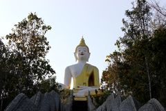 Wat slang. Big Buddha Temple and wonderful slang Stock Photo