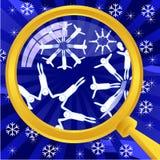 Wat in sneeuwvlokken is Stock Foto's
