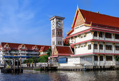 Wat Soi Thong in Bangkok, Thailand. The temple is on the banks of the Chao Phraya River in Bang Sue district in northern Bangkok along the regular route of the Stock Images