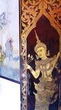 Wat som Doi Suthep, tempelkonst royaltyfri fotografi