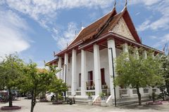 Wat Songtham Worawihan σε Amphoe Phra Pradaeng σε Samut Prakan, Ταϊλάνδη Στοκ εικόνα με δικαίωμα ελεύθερης χρήσης