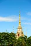 Wat Sorapong offentlig tempel i den Thailand skatten av buddismgränsmärket royaltyfri bild