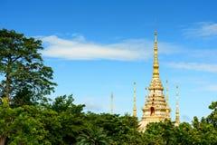 Wat Sorapong offentlig tempel i den Thailand skatten av buddismgränsmärket royaltyfria foton