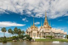 Wat Sorapong offentlig tempel i den Thailand skatten av buddismgränsmärket Arkivbilder