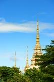 Wat Sorapong offentlig tempel i den Thailand skatten av buddismgränsmärket Arkivfoto