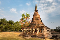 Wat Sorasak in Sukhothai hstorical park Stock Images