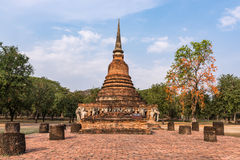 Wat Sorasak in Sukhothai hstorical park Stock Photo