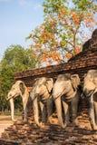 Wat Sorasak in Sukhothai hstorical park Royalty Free Stock Photo