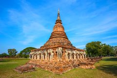 Wat Sorasak Temple at Sukhothai Historical Park, a UNESCO World Heritage Site Royalty Free Stock Images