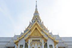 Wat Sothon Wararam Roof. Wat Sothon Wararam Worawihan Royal Monastery at Chachoengsao province in Thailand Royalty Free Stock Images