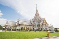 Wat Sothon Wararam Worawihan. In Chachoengsao province royalty free stock photo