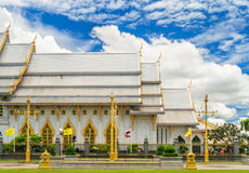 Wat Sothon Wararam Worawihan. Royal Monastery at Chachoengsao province in Thailand royalty free stock images