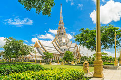 Wat Sothon Wararam Worawihan. Royal Monastery at Chachoengsao province in Thailand stock photos