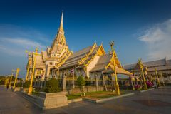 Wat Sothon Wararam Worawihan temple in Chachoengsao Province, Th. Ailand stock photo