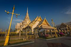 Wat Sothon Wararam Worawihan temple. In Chachoengsao Province, Thailand royalty free stock images