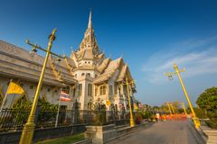 Wat Sothon Wararam Worawihan temple. In Chachoengsao Province, Thailand royalty free stock photography