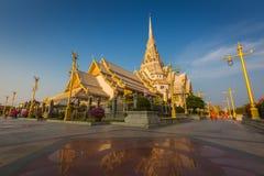 Wat Sothon Wararam Worawihan temple i. N Chachoengsao Province, Thailand stock image