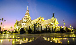 Wat Sothon Wararam Worawihan Temple in thailand. Wat Sothon Wararam Worawihan beautiful Temple in thailand royalty free stock photography