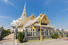 Wat Sothon Wararam Worawihan. THAILAND Chachoengsao - January 29, 2017 : Wat Sothon Wararam is a temple in Chachoengsao Province, Thailand on January 29, 2017 stock photo