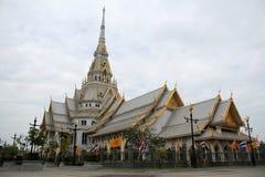 Wat Sothonwararam寺庙 免版税库存照片