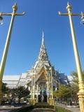Wat SothonWararam jest świątynią w Chachoengsao prowinci, Tajlandia Zdjęcie Royalty Free