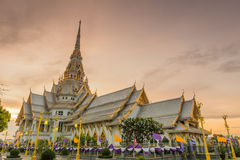 Wat Sothorn temple in sunset Stock Images