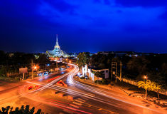 Wat Sothorn Wararam Woraviharn, Thailand. Wat  Sothorn Wararam Woraviharn in Chachoengsao province of Thailand Royalty Free Stock Image