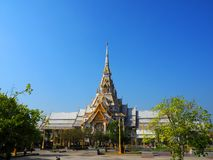 Wat Sothorn Wararam Worawihan, Chachoengsao Province, Thailand. Beautiful architecture Royalty Free Stock Images
