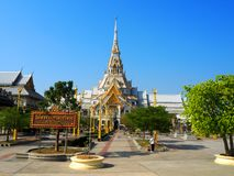 Wat Sothorn Wararam Worawihan, Chachoengsao Province, Thailand. Beautiful temple in Thailand Stock Photography