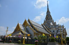 Wat Sothornwararam at Chachoengsao Thailand. Wat Sothorn marks a new beginning for us since it became the first temple we visited as a new team. Our friend after Royalty Free Stock Image