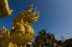 Wat Sri平底锅吨在楠府,泰国 库存照片