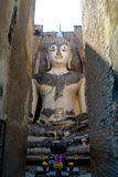 Wat Sri Chum Buddha i Sukhothai den historiska nationen Arkivfoto
