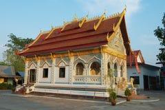 Wat Sri Khun Mueang Buddhist-tempel in Chiang Khan, Thailand royalty-vrije stock foto's