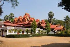 Wat Sri Rong Muang tiene el vihara de madera de la teca más hermosa en La Imagen de archivo