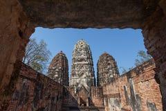 Wat sri sawai, Sukhothai Province, thailand Royalty Free Stock Photography