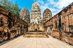 Wat Sri Sawat temple in Sukhothai, Thailand Royalty Free Stock Image