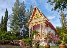 Wat Sri Sunthon tempel på Phuket Arkivbilder