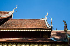 Wat Sri Suphan ,Chiangmai. The first pure silver ordination hall in world was build here at Wat Srisuphan in Chiang Mai. The Buddhist Temple in Lanna style stock photos