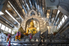 Wat Sri Suphan ,Chiangmai. The first pure silver ordination hall in world was build here at Wat Srisuphan in Chiang Mai. The Buddhist Temple in Lanna style stock image