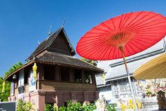 Wat Sri Suphan ,Chiangmai. The first pure silver ordination hall in world was build here at Wat Srisuphan in Chiang Mai. The Buddhist Temple in Lanna style royalty free stock image