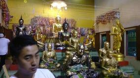 Wat srivareenoi bangpree,samutprakarn stock video footage