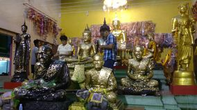 Wat srivareenoi bangpree,thailand stock video footage