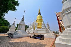 Wat Suan Dok , Chiang Mai. Wat Suan Dok  is a Buddhist temple (Wat) in Chiang Mai, northern Thailand. It is a Royal Temple of the Third Class. The temple is Stock Image