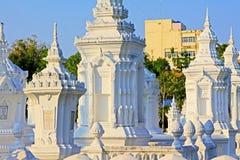 Wat Suan Dok Chiang Mai, Thailand Arkivbilder
