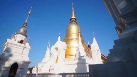 Wat Suan Dok Famous temple in Chiang Mai Thailand with angle arts stock footage